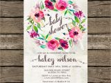 Floral Baby Shower Invitations Free Baby Shower Invitation Printable Purple Floral Baby Shower