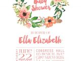 Floral Baby Shower Invitations Free Floral Baby Shower Invitations