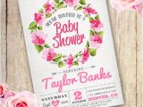 Floral Baby Shower Invitations Free Floral Wreath Baby Shower Girl Invitation Templateparty