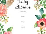 Floral Baby Shower Invitations Free Free Printable Floral Shower Invitation