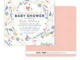 Floral Baby Shower Invitations Free Printable Baby Shower Invitation Floral Invitations with