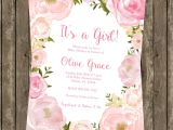 Floral Baby Shower Invitations Free Watercolor Floral Baby Shower Invitation Modern Birthday