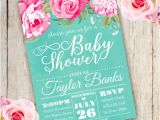 Floral Baby Shower Invitations Free Watercolor Floral Baby Shower Invitation Template Edit