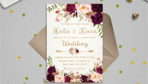 Floral Wedding Invitation Template Floral Wedding Invitation Template Wedding Invitation
