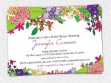 Flower themed Birthday Party Invitation Wording Bridal Shower Invitation Printable Floral Garden Flowers