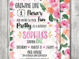 Flower themed Birthday Party Invitation Wording butterfly Flower Garden Birthday Party Invite Garden Party