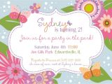 Flower themed Birthday Party Invitation Wording Flower Party Invitations Mickey Mouse Invitations Templates