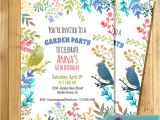 Flower themed Birthday Party Invitation Wording Garden Party Invitation Birthday Invitation for Woman Water