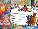 Fnaf Party Invitations Five Nights at Freddy 39 S Fnaf Birthday Invitation 5