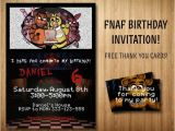 Fnaf Party Invitations Five Nights at Freddy 39 S Invitation Bonus by