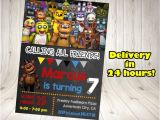 Fnaf Party Invitations Five Nights at Freddy 39 S Invitation Five Nights by