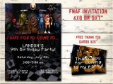 Fnaf Party Invitations Five Nights at Freddy 39 S Invitation Fnaf Invitation Fnaf