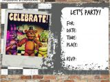 Fnaf Party Invitations Five Nights at Freddy 39 S Invitations and by