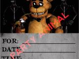 Fnaf Party Invitations Five Nights at Freddy 39 S Party Invitation Instant Download