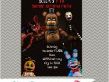 Fnaf Party Invitations Five Nights at Freddy 39 S Party Personalized Party
