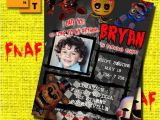 Fnaf Party Invitations Fnaf Birthday Invitation Five Nights at Freddys by Artamoris