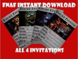 Fnaf Party Invitations Paquete De Cinco Noches A Las Cuatro De Freddy Descarga