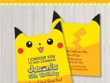 Foldable Birthday Invitations Free Pokemon Inspired Birthday Party Invitation