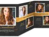 Folded Graduation Invitations Templates Exquisite Script Graduation Announcement by Pottsdesign