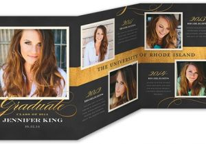 Folded Graduation Invitations Templates Exquisite Script Graduation Announcement by Pottsdesign