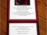 Folded Graduation Invitations Templates Invitation Fold Graduation Invitations Pinterest