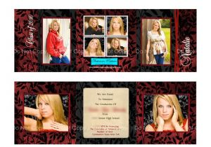 Folded Graduation Invitations Templates Tri Fold Graduation Invitations Template Best Template