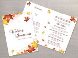 Folded Wedding Invitation Templates Diy Printable Wedding Folded Invitation Card Template