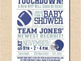 Football Baby Shower Invitation Template Items Similar to Baby Shower Invitation Card Football