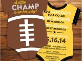 Football Baby Shower Invitation Template Items Similar to Football Jersey Baby Shower Invitations