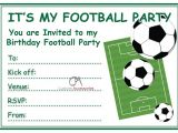 Football Birthday Party Invitation Templates Free Football Invites Kids Children S Boys Football Birthday