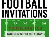 Football Birthday Party Invitation Templates Free Football Party Invitation Template Free Printable