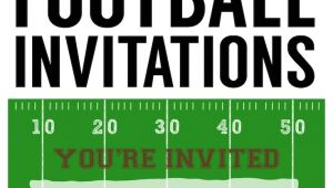 Football Birthday Party Invitation Templates Free Football Party Invitation Template Free Printable