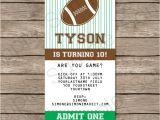 Football Birthday Party Invitation Templates Free Football Ticket Invitation Template