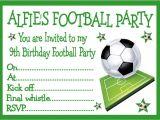 Football Birthday Party Invitation Templates Free Personalised Invites Childrens Boys Football Birthday