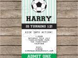 Football Birthday Party Invitation Templates Free soccer Party Ticket Invitations Template