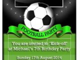 Football Birthday Party Invitation Wording Party Invitations Personalised Football Birthday Party