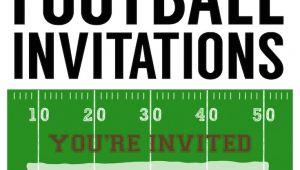 Football Party Invitation Template Football Party Invitation Template Free Printable