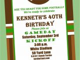 Football Party Invitation Wording Football Birthday Party Invitation Printable or Printed with