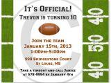Football Party Invitation Wording Football Birthday Party Invitations