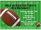 Football Party Invitations Templates Free 11 Fearsome Football Birthday Party Invitations