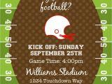 Football Party Invitations Templates Free End Of Season Football Invitation Printable