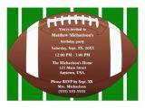 Football Party Invitations Templates Free Football Birthday Invitation Templates