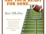 Football Party Invitations Templates Free Football Invitation Template Invitation Template