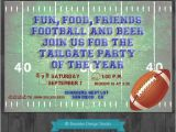 Football Tailgate Party Invitation Wording Football Party Tailgate Party Custom by Brooklyndesignstudio