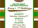 Football themed Birthday Party Invitation Wording Etsy Your Place to and Sell All Things Handmade