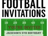 Football themed Birthday Party Invitation Wording Football Party Invitation Template Free Printable
