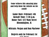 Football themed Birthday Party Invitation Wording Football Party Invitations