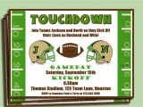 Football themed Birthday Party Invitation Wording Invitation Football Party