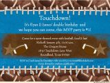 Football themed Birthday Party Invitation Wording touchdown Football Invitation Birthday Mvp 1