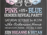 Football themed Gender Reveal Party Invitations Chalkboard Football theme Gender Reveal Party Team Pink